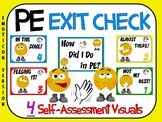 PE Exit Check- 4 Self-Assessment Visuals- Emoticon Version