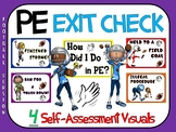 PE Exit Check- 4 Self-Assessment Visuals- Football Version