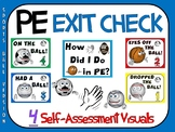PE Exit Check- 4 Self-Assessment Visuals- Sports Ball Version