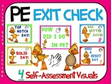 PE Exit Check- 4 Self-Assessment Visuals- Yellow Duck Version