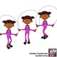 PE Fitness Clip Art - Jumprope / Skipping Exercises 60+ Color Images