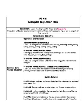 PE Fitness Lesson Plan Mosquito Tag