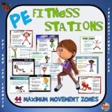"PE Fitness Stations - 44 ""Maximum Movement"" Zones"