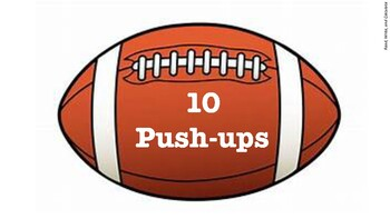 PE Footballs / Super Bowl Workout