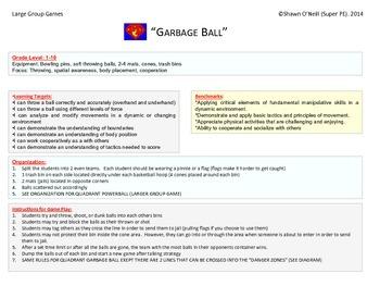 """Super PE Game - """"Garbage Ball"""""""