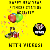 PE Game - New Year Fitness Station Competitive Workout Activity!