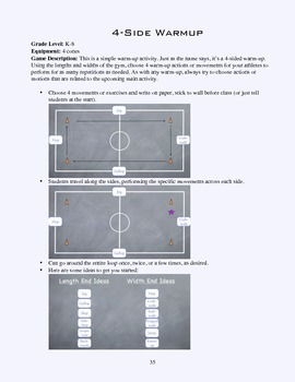 PE Game Sheet: 4-Side Warmup
