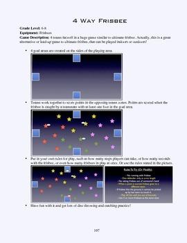 PE Game Sheet: 4-Way Frisbee