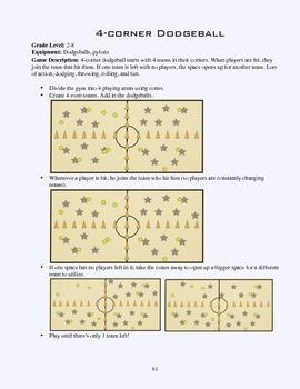 PE Game Sheet: 4-corner dodgeball