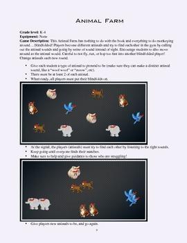 PE Game Sheet: Animal Farm