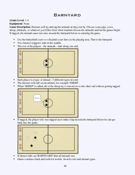 PE Game Sheet: Barnyard