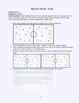 PE Game Sheet: Beanbag Tag
