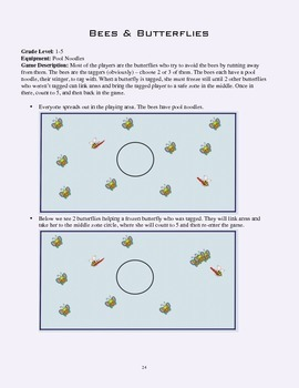 PE Game Sheet: Bees & Butterflies Tag