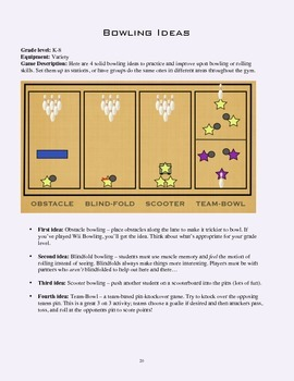 PE Game Sheet: Bowling Ideas
