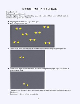PE Game Sheet: Catch Me If You Can