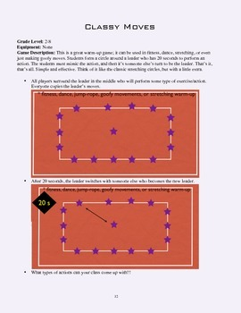 PE Game Sheet: Classy Moves