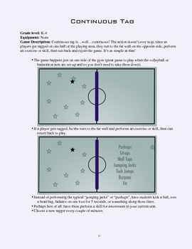 PE Game Sheet: Continuous Tag