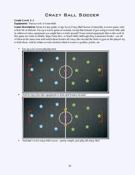 PE Game Sheet: Crazy Ball Soccer