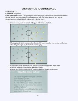 PE Game Sheet: Detective Dodgeball