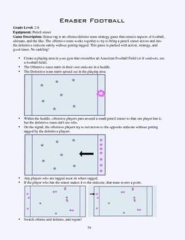PE Game Sheet: Eraser Football