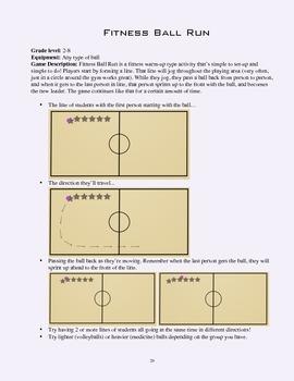 PE Game Sheet: Fitness Ball Run