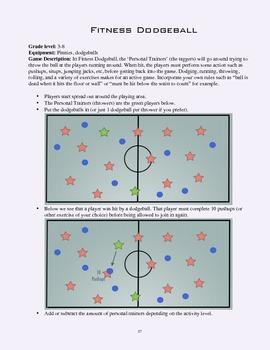 PE Game Sheet: Fitness Dodgeball