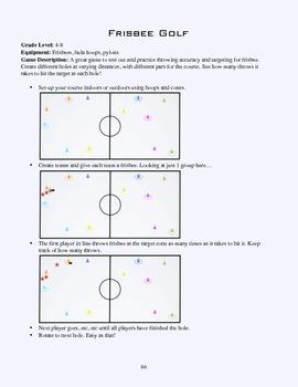 PE Game Sheet: Frisbee Golf
