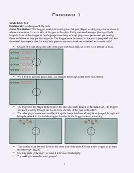 PE Game Sheet: Frogger 1