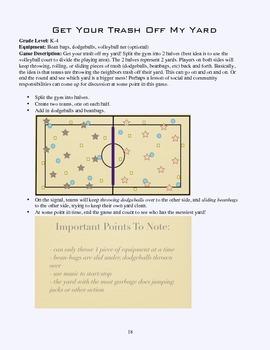 PE Game Sheet: Get Your Trash Off My Yard!