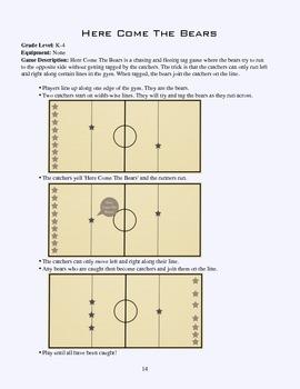PE Game Sheet: Here Come The Bears