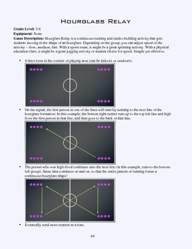 PE Game Sheet: Hourglass Relay