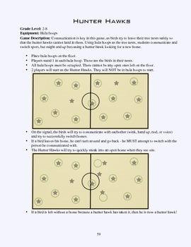 PE Game Sheet: Hunter Hawks