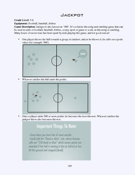 PE Game Sheet: Jackpot