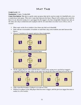 PE Game Sheet: Mat Tag
