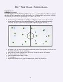 PE Game Sheet: Off The Wall Dodgeball