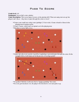 PE Game Sheet: Pass To Score