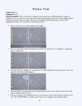 PE Game Sheet: Pizza Tag