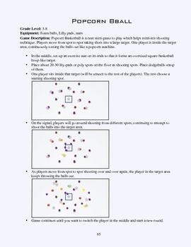 PE Game Sheet: Popcorn Basketball