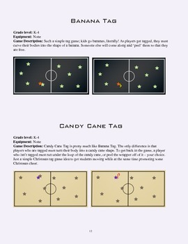 PE Game Sheet: Quick Tag games