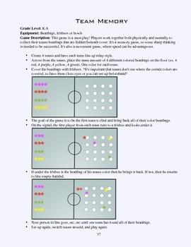 PE Game Sheet: Team Memory