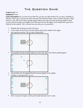 PE Game Sheet: The Question Game