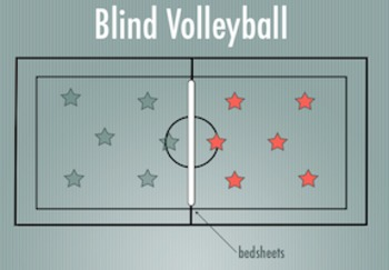 PE Game Video: Blind Volleyball