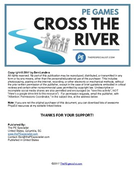 Free Pe Lesson Plan Cross The River Teambuilding Cooperative