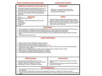 PE Games Individual Scoop Challenges