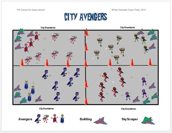 "PE Games for Superheroes!- ""City Avengers"""