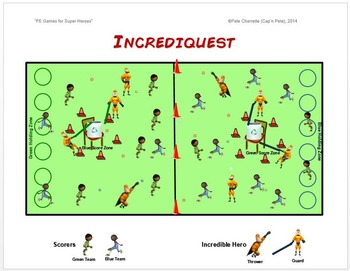 """PE Games for Superheroes!- """"Incrediquest"""""""