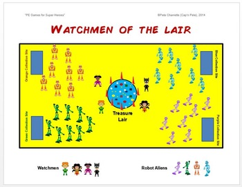 """PE Games for Superheroes!- """"Watchmen of the Lair"""""""