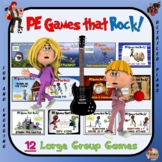 PE Games that Rock- 12 Large Group Game Bundle