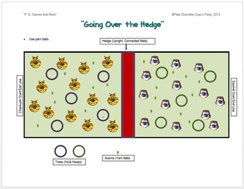 "PE Games that Rock! - ""Going over the Hedge"""