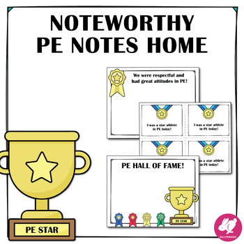 P.E. Notes to Parents, with Spanish!